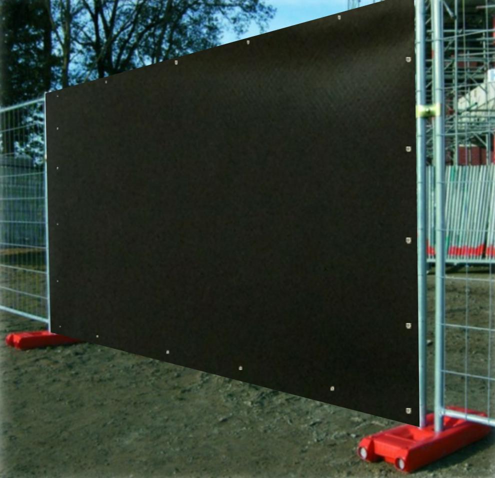 Clôture de chantier anti-bruit