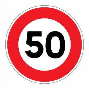 Panneau limitation 50 km/h