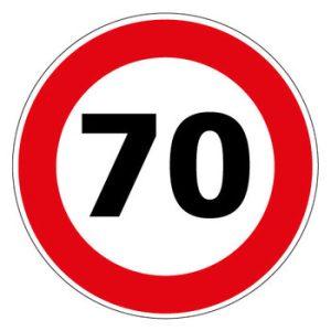 Panneau limitation 70 km/h