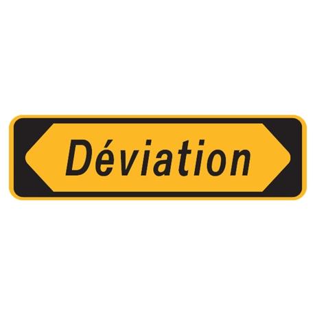 Panneau déviation