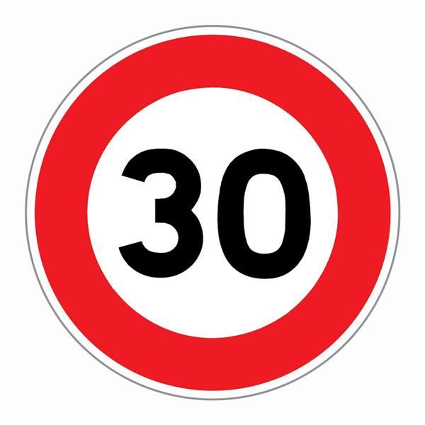 Panneau limitation 30 km/h