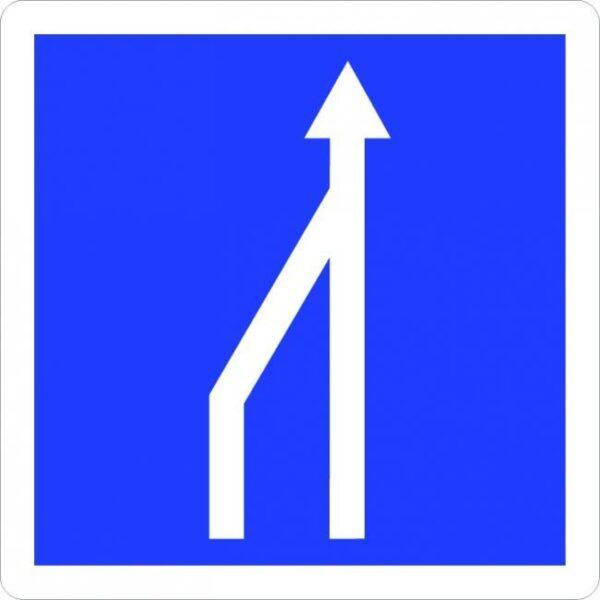 Panneau réduction du nombre de voies