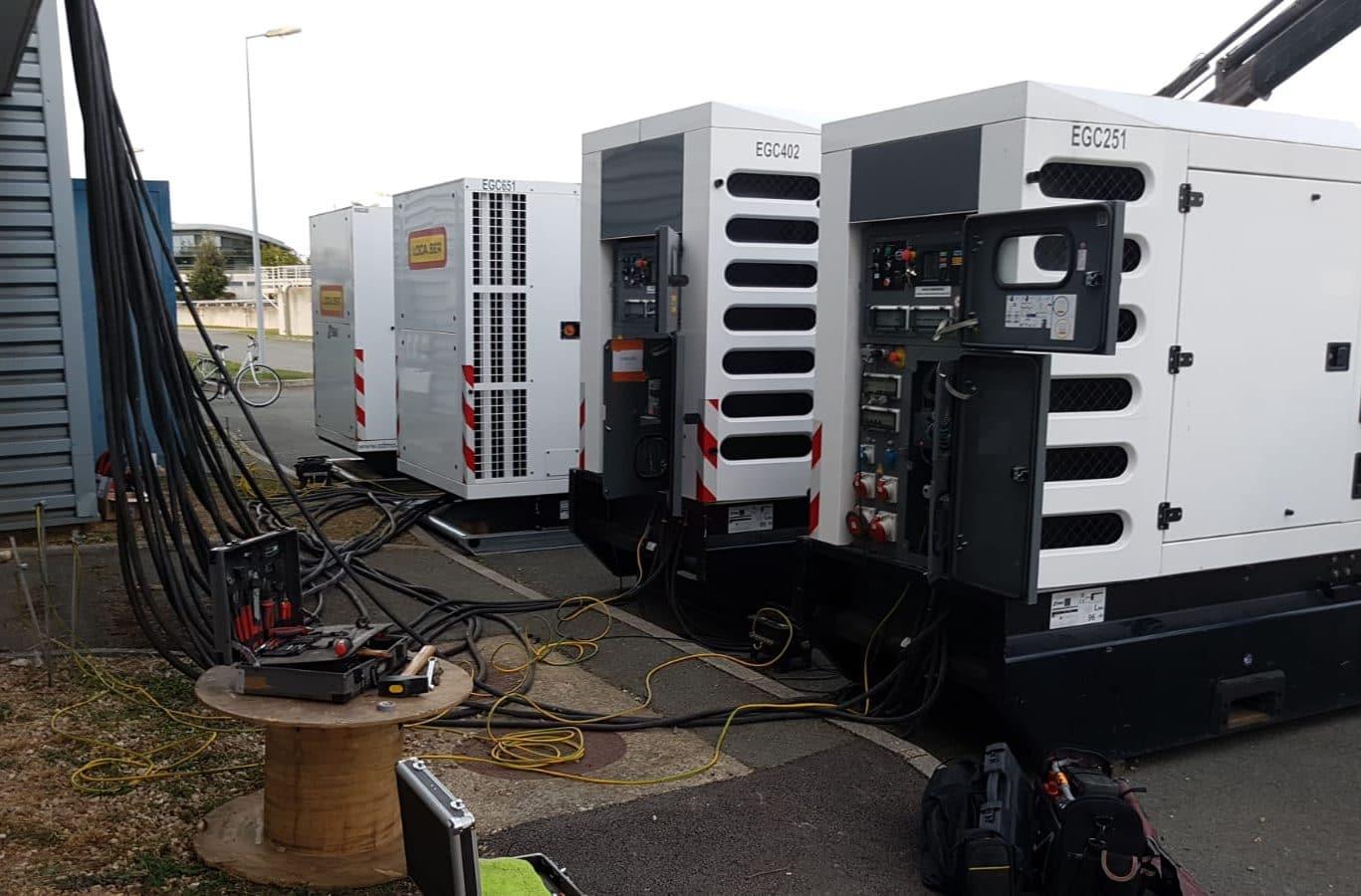 Groupe électrogène couplable jusqu'à 2 500 KVA